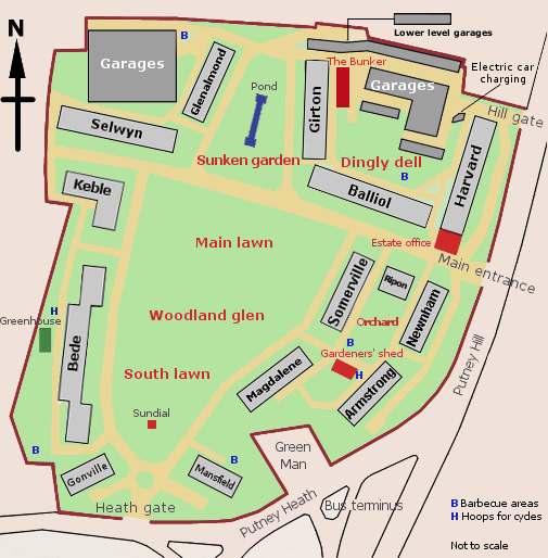 Manor Fields estate map